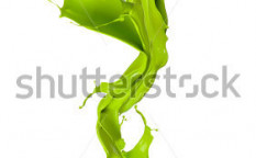 Stock-photo-isolated-shot-of-green-paint-splash-in-flower-shape-on-white-background-110240114