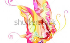 Stock-vector-smooth-colorful-abstract-butterfly-over-white-vector-illustration-101023588