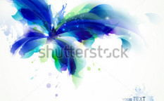 Stock-vector-abstract-butterfly-with-blue-and-cyan-blots-95625625