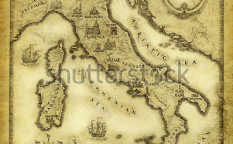 Stock-photo-map-of-italy-drawn-with-ink-on-paper-37070230
