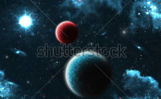 Stock-photo-planets-over-the-nebulae-in-space-121216129