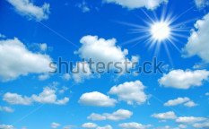 Stock-photo-the-blue-sky-and-sun-57887725