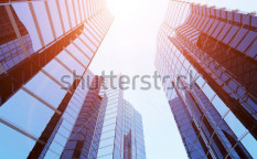 Stock-photo--d-blue-sky-scrapers-and-blue-sky-above-72327805