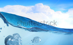 Stock-photo-design-template-with-underwater-part-and-sunset-skylight-splitted-by-waterline-122834788