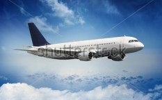 Stock-photo-airplane-on-blue-sky-53287081