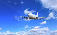 Stock-photo-big-jet-plane-flying-on-perfect-sky-background-64783555