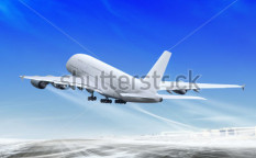 Stock-photo-white-passenger-plane-is-landing-away-from-airport-71738131