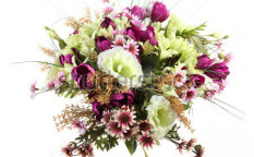 Stock-photo-bouquet-of-artificial-flowers-on-a-white-background-123821164