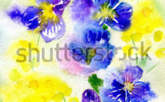 Stock-photo-watercolor-painting-of-flowers-99225902