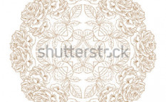 Stock-vector-abstract-ornament-pattern-contour-roses-vector-125304980