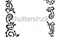 Stock-vector-decorative-vintage-ornament-black-on-white-silhouette-2284351