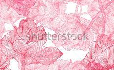 Stock-vector-elegant-seamless-pattern-with-beautiful-pink-roses-for-your-design-100141364